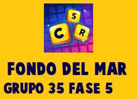 Fondo del Mar Grupo 35 Rompecabezas 5 Imagen